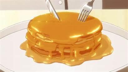 Anime Kawaii Pancakes Cartoon Aesthetic Drawing Foods