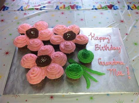 flower pull  cupcake cake cakecentralcom