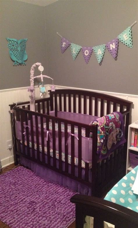 Purple And Teal Nursery  Nursery Decor  Pinterest. Ideas For Decorating Living Room With Black Sofa. Rooms For Rent In Sanford Fl. Colour Paper Decoration. Outdoor Pineapple Decor. Plastic Palm Tree Decorations. Colorful Home Decor. Modern White Home Decor. Room Purifier