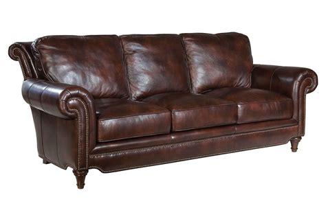 Julian 86 Leather Sofa Coffee Sofas From One Kings Lane