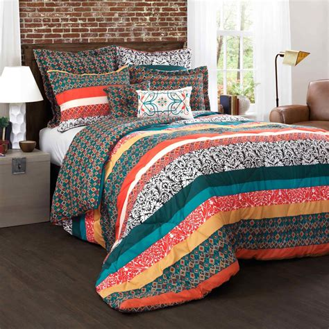 Lush Bedding Sets by Lush Decor Boho Stripe 7 Pc Comforter Set Bedding