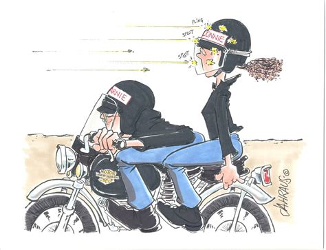 Our Popular Motorcycle Couple Cartoon Shows The Male