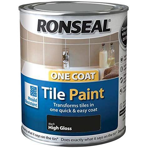 Fliesen Streichen Preise by Ronseal One Coat Tile Paint Black Gloss 750ml Buy