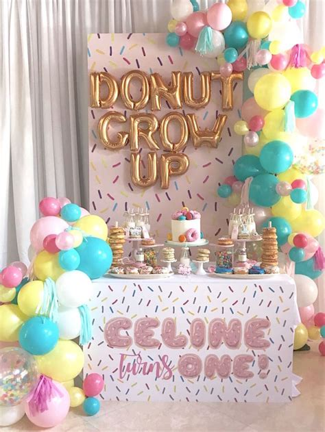 birthday party ideas 1st birthday party ideas kara 39 s party ideas quot donut quot grow up 1st birthday party