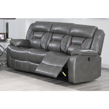 Raeburn Leather Recliner by Horace Power Recliner Sofa Black Leatherette