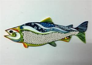 Quilled Fish Art- Hand made paper quilled wall art - Mixed