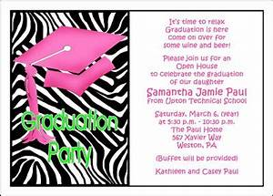Graduation Announcement Cards Free Printable Wording For Graduation Open House Invite Google Search
