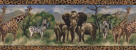 Zebra, Elephant, Giraffe Wallpaper Border Ff51114b