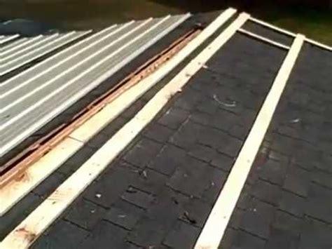 Metal Roofing Over Shingles Youtube
