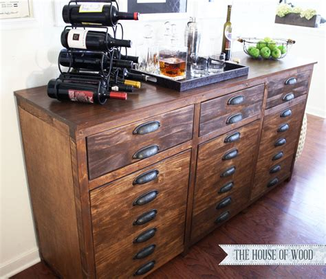 how to make a buffet cabinet ana white printers triple console cabinet diy projects