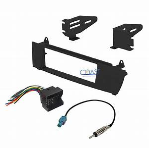 Car Radio Stereo Single Din Dash Kit Wire Harness Antenna For 2004