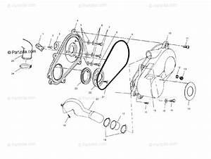 Polaris Atv 2004 Oem Parts Diagram For Clutch Cover