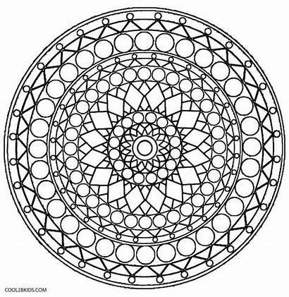 Kaleidoscope Coloring Pages Printable Geometric Adults Cool2bkids