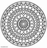 Kaleidoscope Coloring Pages Printable Geometric Adults Cool2bkids sketch template