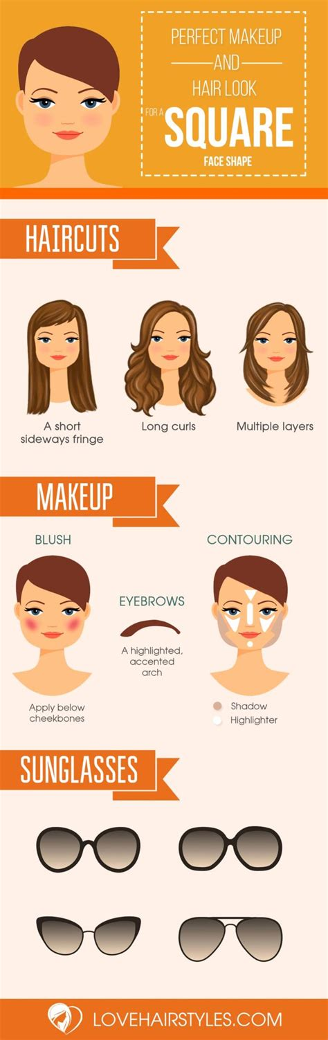 square face hairstyles ideas  pinterest