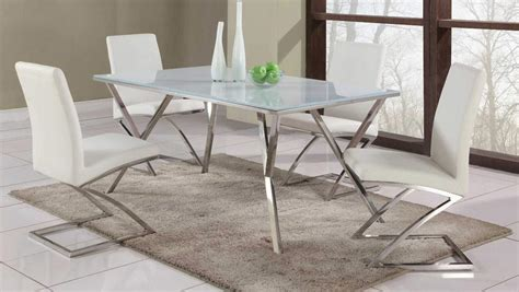 high end rectangular glass top leather dining table and