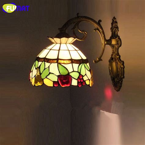 fumat stained glass wall light mediterranean wall sconce