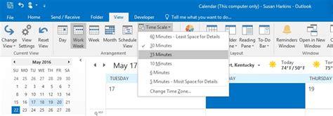 configure outlooks calendar view  suit  work