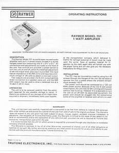 1 Watt Amplifier 701 Manuals