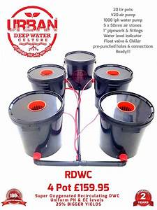 20l 4 Pot System For Grow Tent 1 2 X 1 2 600w Light Auto
