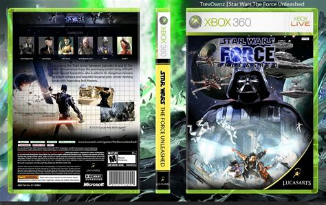Star Wars The Force Unleashed Xbox 360 Box Art Cover By