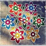 Rangoli Designs With Flowers And Colours | 597 x 577 jpeg 79kB