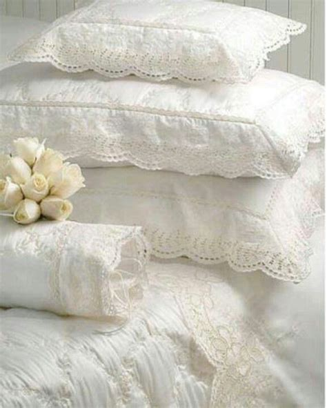 shabby chic bedding ivory bedding romance lace pinterest