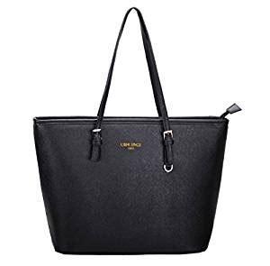 LI&HI Damen Handtasche Schwarz Marken Handtaschen Elegant