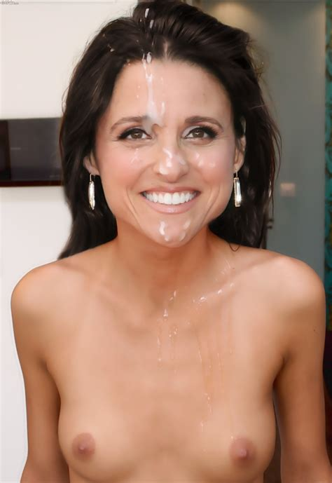 fake julia dreyfus sperma facial pics