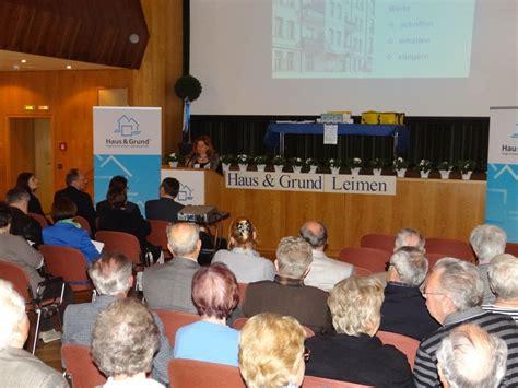Haus Und Grund Heidelberg Haus Grund Info Veranstaltung Leimen Lokal Leimen Lokal