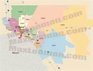 El Paso Texas Zip Code Map