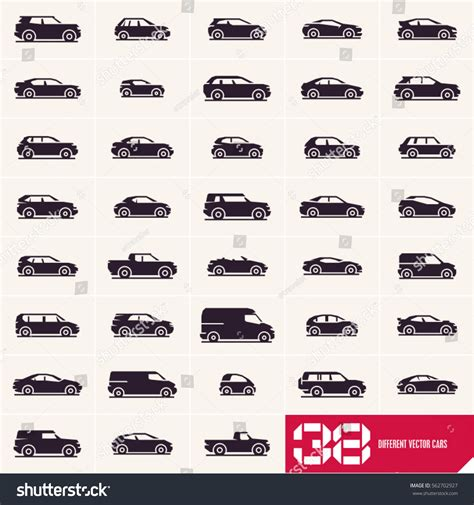 Cars Icons Set Different Vector Car Stock Vector 562702927