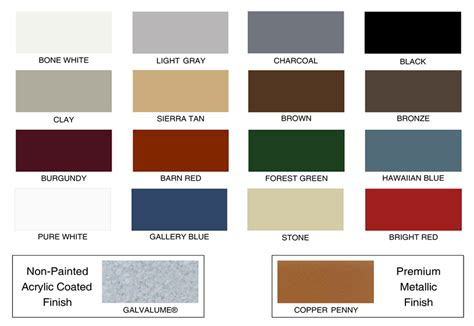 standing seam metal roof colors 1 quot standing seam roofing best buy metal roofing