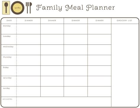 monthly meal planner template 28 useful printable monthly meal planners kitty baby love
