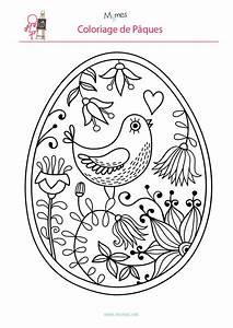 Oeuf De Paque : coloriage de l 39 oeuf de p ques l 39 oiseau easter and egg ~ Melissatoandfro.com Idées de Décoration