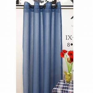 Rideau Bleu Pétrole : voilage uni bleu p trole achat vente rideau 100 polyester cdiscount ~ Farleysfitness.com Idées de Décoration