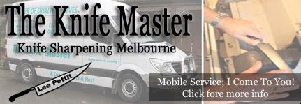 Kitchen Knife Sharpening Melbourne by Mobile Knife Sharpening Yarra Valley Water Cooled