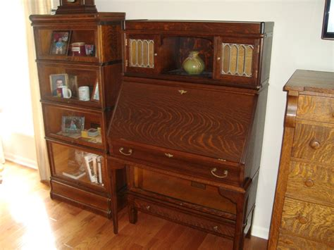 Rare Globe Wernicke Bookcase With Desk, Drawer Base, And