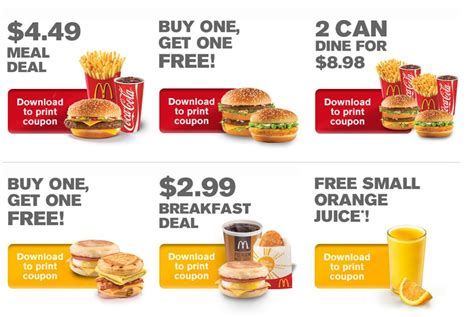 48330 Mcdonalds Menu Coupons by The Best Way To Enjoy Your Fast Food Menus And Coupons