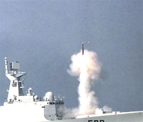 Chinese Type 054a Jiangkai-ii Frigate Tests Hq-16 Anti Air