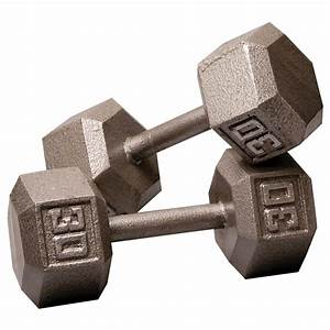 Body-solid Cast Hex Dumbbell