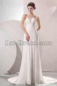elegant flowing chiffon beach wedding dress1st dresscom With flowing beach wedding dresses