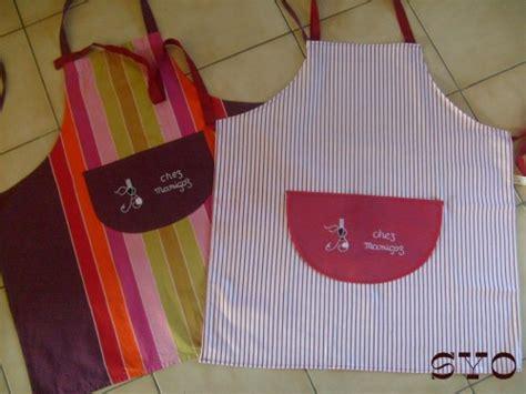ustensile cuisine tablier de cuisine brodé de mamigoz et patron