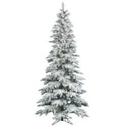 vickerman flocked utica fir 6 5 white artificial christmas tree with 300 clear lights reviews