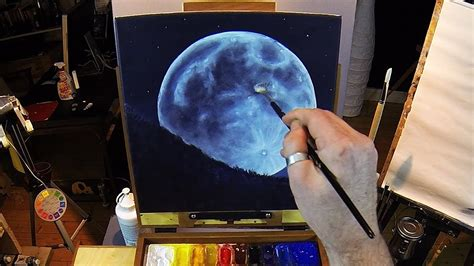 How To Paint A Full Moon  Acrylic Painting Lesson Preview