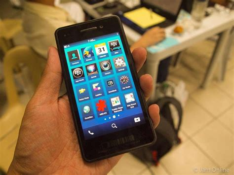 blackberry 10 alpha device on jam
