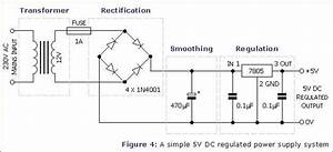 Power Supply Circuit Ac  Dc  Ve Output