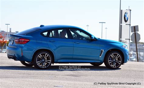 2015 Bmw X6 M In Long Beach Blue Color
