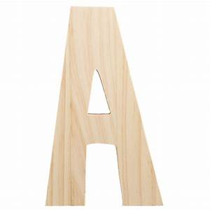 775quot chunky wooden letter a 9190 692a craftoutletcom With chunky wooden letters