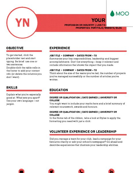 moo resume templates free templates for microsoft office suite office templates